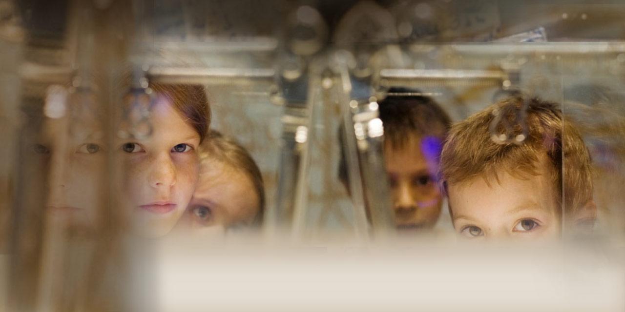 Kinder im Schulmuseum. Foto: Erika Moisan, Nürnberg